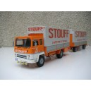 BERLIET GR 280 PORTEUR REMORQUE TRANSPORT STOUFF INTERNATIONAL
